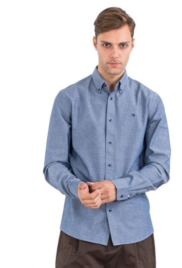 ED CHABRAY SHIRT REGULAR FIT BUTTON SOWN COLLAR