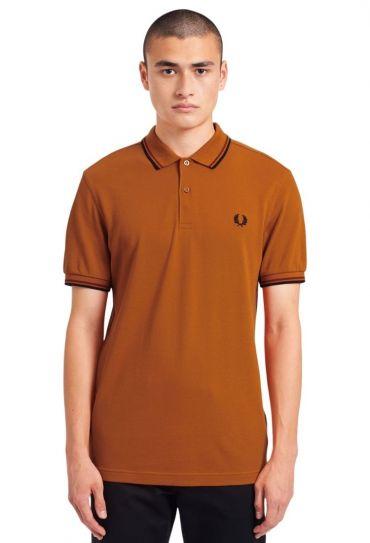 TWIN TIPPED FRED PERRY SHIRT חולצת פולו  שרוול ק