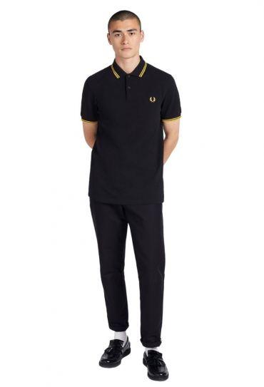 SLIM FIT TWIN TIPPED SHIRT חולצת פולו  שרוול קצר
