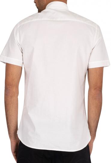 SLIM ORGANIC OXFORD SHIRT S/S WHITE