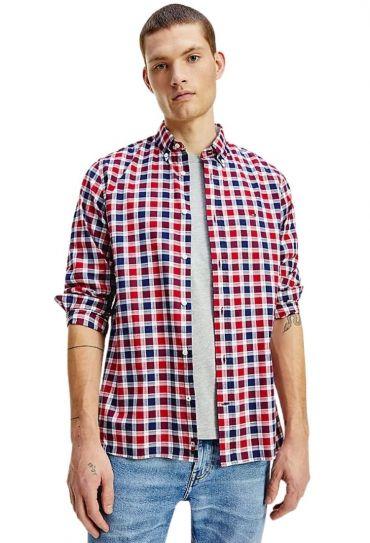 חולצות כפתורים ארוכה J TRAVEL OXFORD CHECK SHIRT
