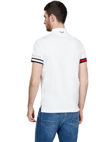 חולצות פולו  שרוול קצר 8 YBR FLAG CUFF SLIM POLO