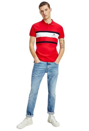חולצות פולו  שרוול קצר LG CHEST STRIPE SLIM POLO