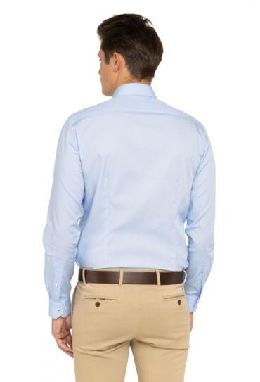 OPLIN CLASSIC SLIM SHIRT Custom Color Light Blue
