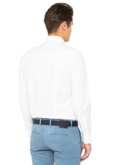 POPLIN CLASSIC SLIM SHIRT Bright White